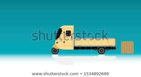 Realistyczny ładunku rower trzykołowy profil widoku Zdjęcia stock © YuriSchmidt