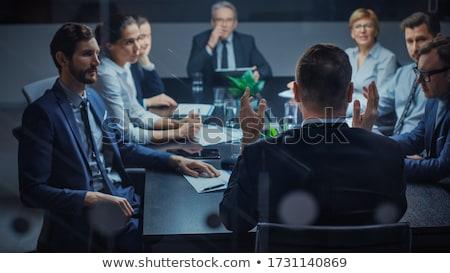 Kobiet finansowych kierownik pracy biuro działalności Zdjęcia stock © Elnur