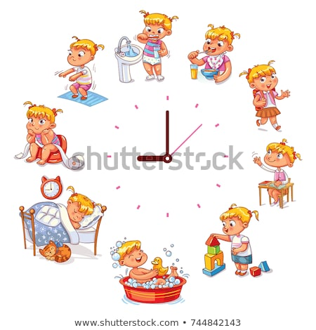 clock face educational activity for children Stock photo © izakowski