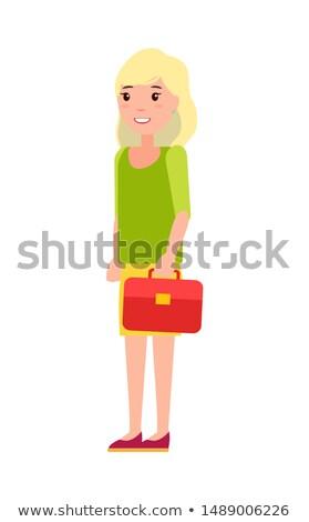かなり 女学生 赤 ハンドバッグ 最初 年 ストックフォト © robuart