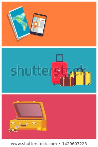 Time to Travel Planning and Preparation Color Card Stock photo © robuart