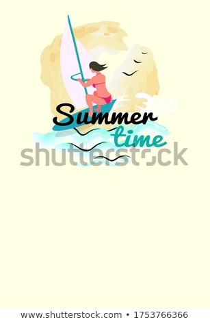 Windszörf háló poszter nyár sport tevékenység Stock fotó © robuart