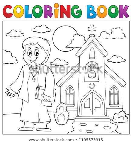 книжка-раскраска · здание · церкви · книга · здании · искусства · Церкви - Сток-фото © clairev