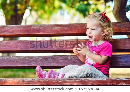 Menina mata outono mulher floresta cabelo Foto stock © Alones