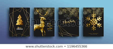 vrolijk · christmas · tijdgenoot · driehoek · rendier · wenskaart - stockfoto © cienpies