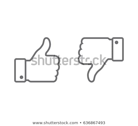 Outlined thumb up emoticon Stock photo © yayayoyo