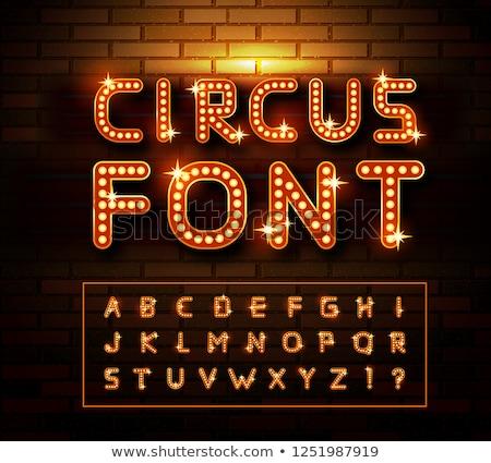Сток-фото: цирка · кирпичная · стена · вектора · свет