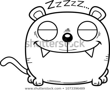 Cartoon panter illustratie welp dutje Stockfoto © cthoman