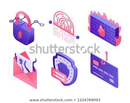 Crime logo ordinateur portable internet Photo stock © -TAlex-