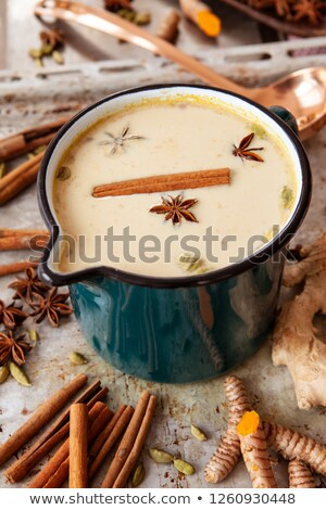 Pot of Indian chai tee Stock photo © BarbaraNeveu