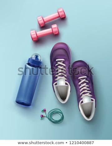 Valósághű sport fut cipő képzés fitnessz Stock fotó © MarySan