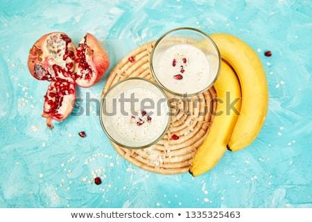 Photo stock: Smoothie · avoine · banane · grenade · bleu