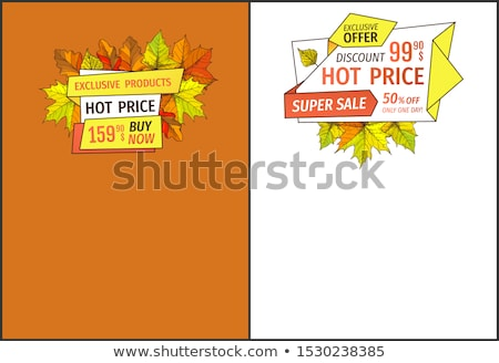 hot · sprzedaży · 50 · strony · internetowe · naklejki - zdjęcia stock © robuart