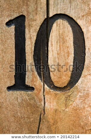 Counting number one to ten on wooden boards Stock photo © colematt