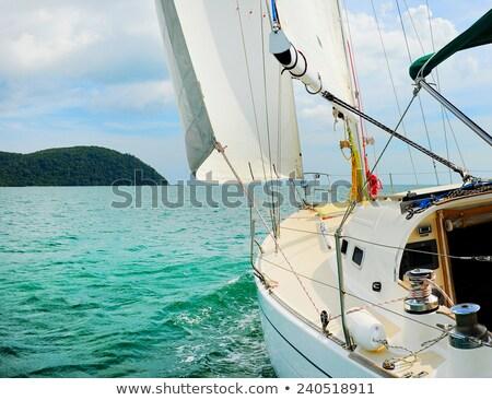 Jacht morza chmury słońce wygaśnięcia Zdjęcia stock © Givaga