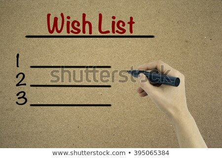 Blank Wants And Needs List Concept Stock photo © ivelin