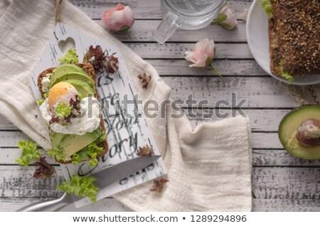 Ev yapımı avokado marul sandviç ekmek Stok fotoğraf © Peteer