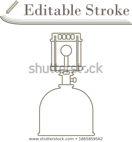 Icon of camping gas burner lamp Stock photo © angelp