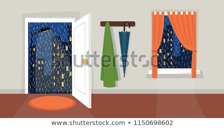 Stock photo: Rainy day - flat design style vector illustration