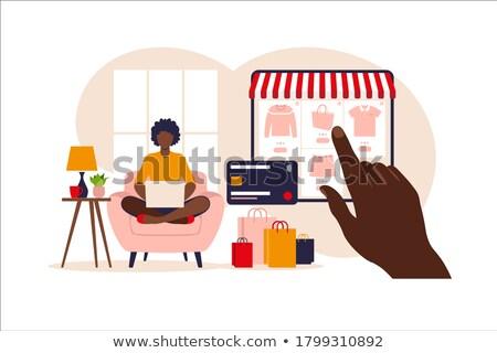 On-line pagamento moderno colorido projeto estilo Foto stock © Decorwithme