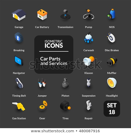 gas color outline isometric icons stock photo © netkov1