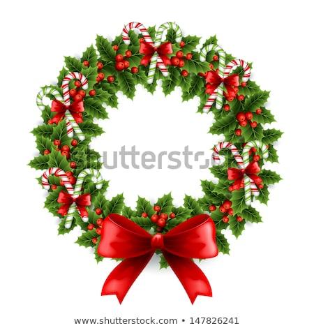 ヤドリギ · 花輪 · 孤立した · 伝統的な · クリスマス · 装飾 - ストックフォト © robuart