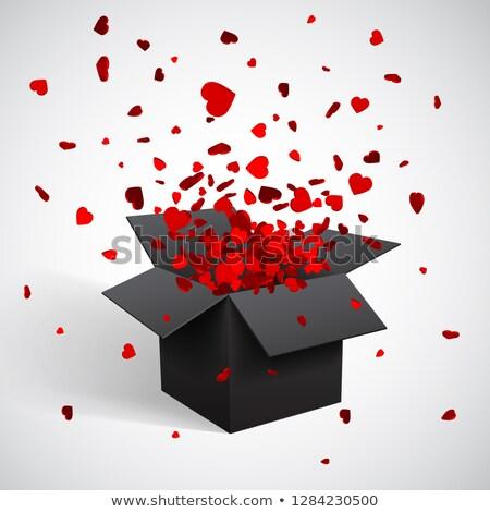 partícula · corazón · rojo · excelente · eps · 10 - foto stock © olehsvetiukha