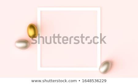 bahar · Paskalya · kart · şablon · altın · lüks - stok fotoğraf © cienpies