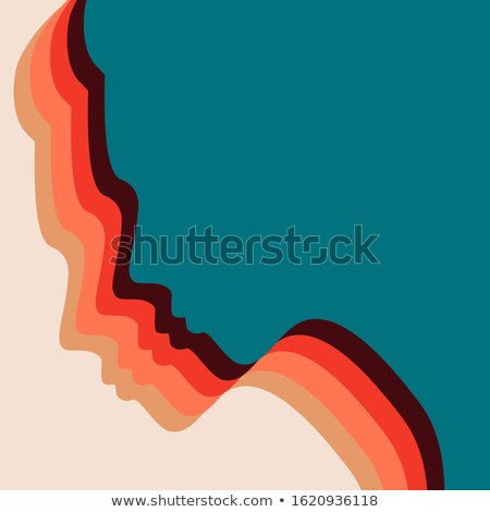 Women's Day 8th March card of diverse girl head Stock photo © cienpies