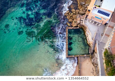 Coogee Beach and Ross Jones Pool aerial views Stock photo © lovleah
