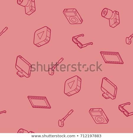швейных изометрический иконки прибыль на акцию 10 Сток-фото © netkov1