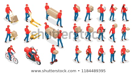vector set of delivery person and logistic ストックフォト © olllikeballoon