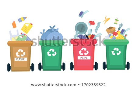Waste Disposal Metal Can with Rubbish and Litter Stock photo © robuart