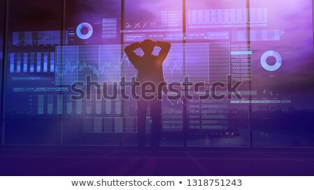 Trader silhouette and stock exchange animation Stock photo © ConceptCafe