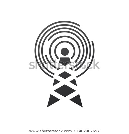 Cell Phone Tower, electric tower pole. Vector illustration isolated on white background. Stock photo © kyryloff