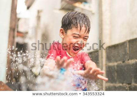 играет воды фонтан бассейна рук Сток-фото © galitskaya