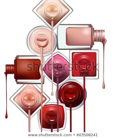 Bottle Of Green Nail Polish Female Cosmetic Vector Stock photo © pikepicture