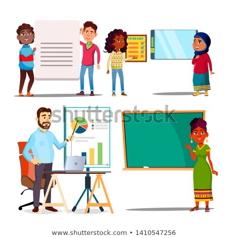Character Explain Educational Material Set Vector Stock photo © pikepicture