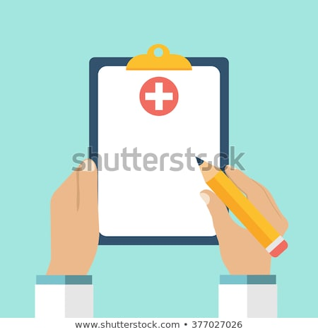 Clipboard With List Of Health Check Up Vector Stock photo © pikepicture