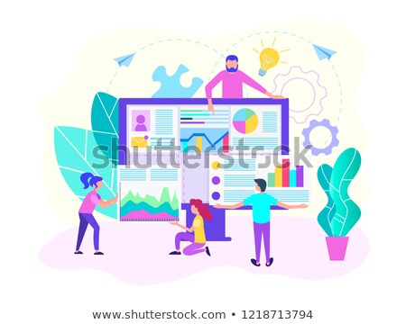 HR software concept landing page. Stock photo © RAStudio