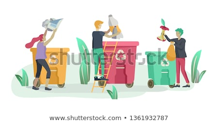 sorting trash environmental care planet vector stock photo © robuart