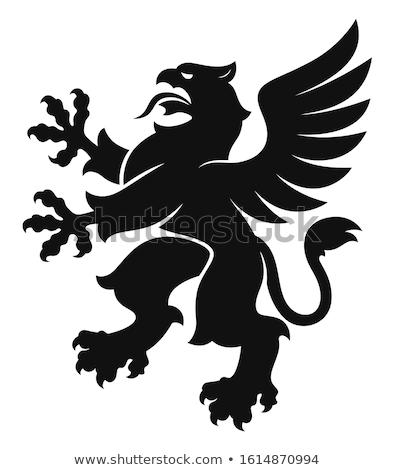 черный грифон белый птица орел крыльями Сток-фото © Genestro