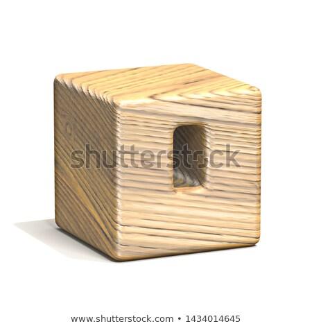 Sólido cubo fuente número cero Foto stock © djmilic