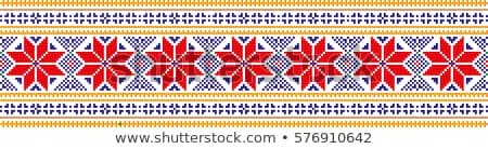 Ukraine colored pattern Stock photo © netkov1