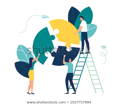 Statistical Report, Management Cooperation Vector Stock photo © robuart
