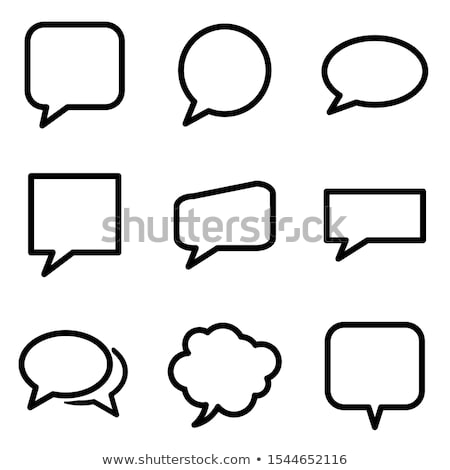 cloud chat bubble , social network logo concept. Vector illustration isolated on white background Stock photo © kyryloff