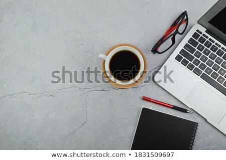 Red office utensils on red Stock photo © andreasberheide