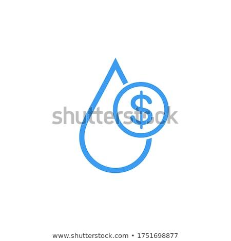Linear Wasser Öl Drop Dollarzeichen isoliert Stock foto © kyryloff