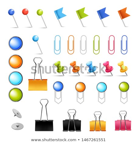 Paperclip Metal Item for Office Supply Icon Vector Stock photo © robuart