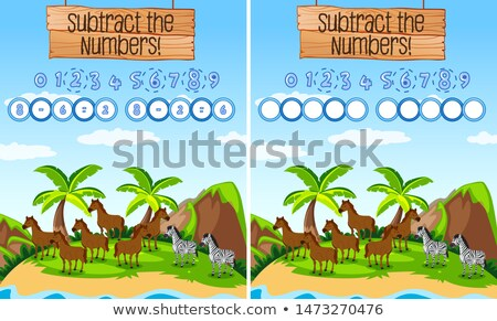 Subtraction number mth educational game Stock photo © bluering
